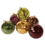 mouth blown mercury glass ball ornaments